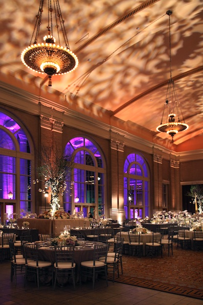 Union Station wedding lighting