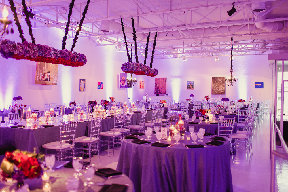 32-129 Leslie Wedding, Red & Purple Wedding, Modern Wedding, Art Wedding