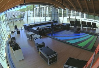 Video Dance Floor Setup