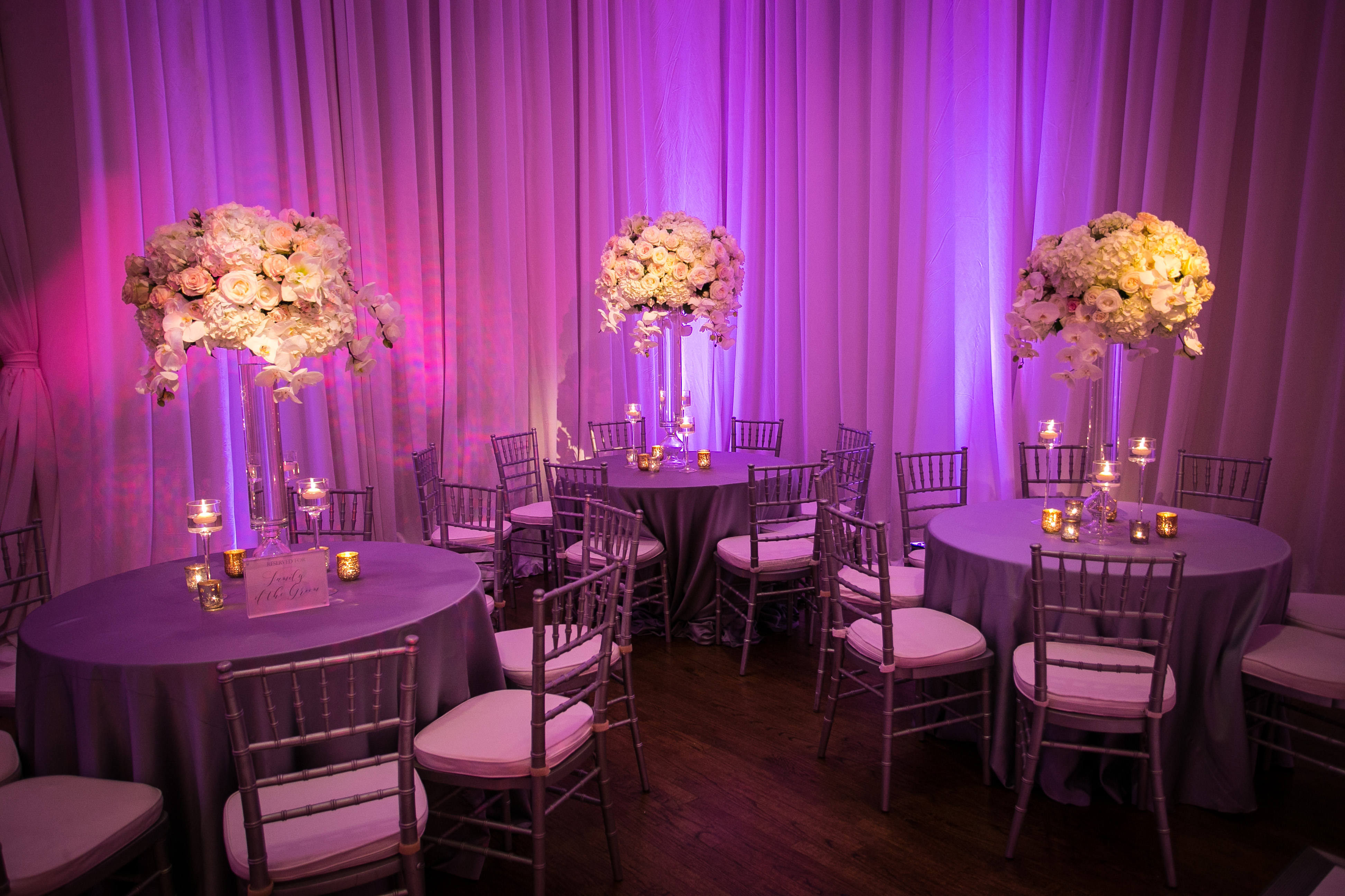 Wedding Lighting Design - Arlington Hall