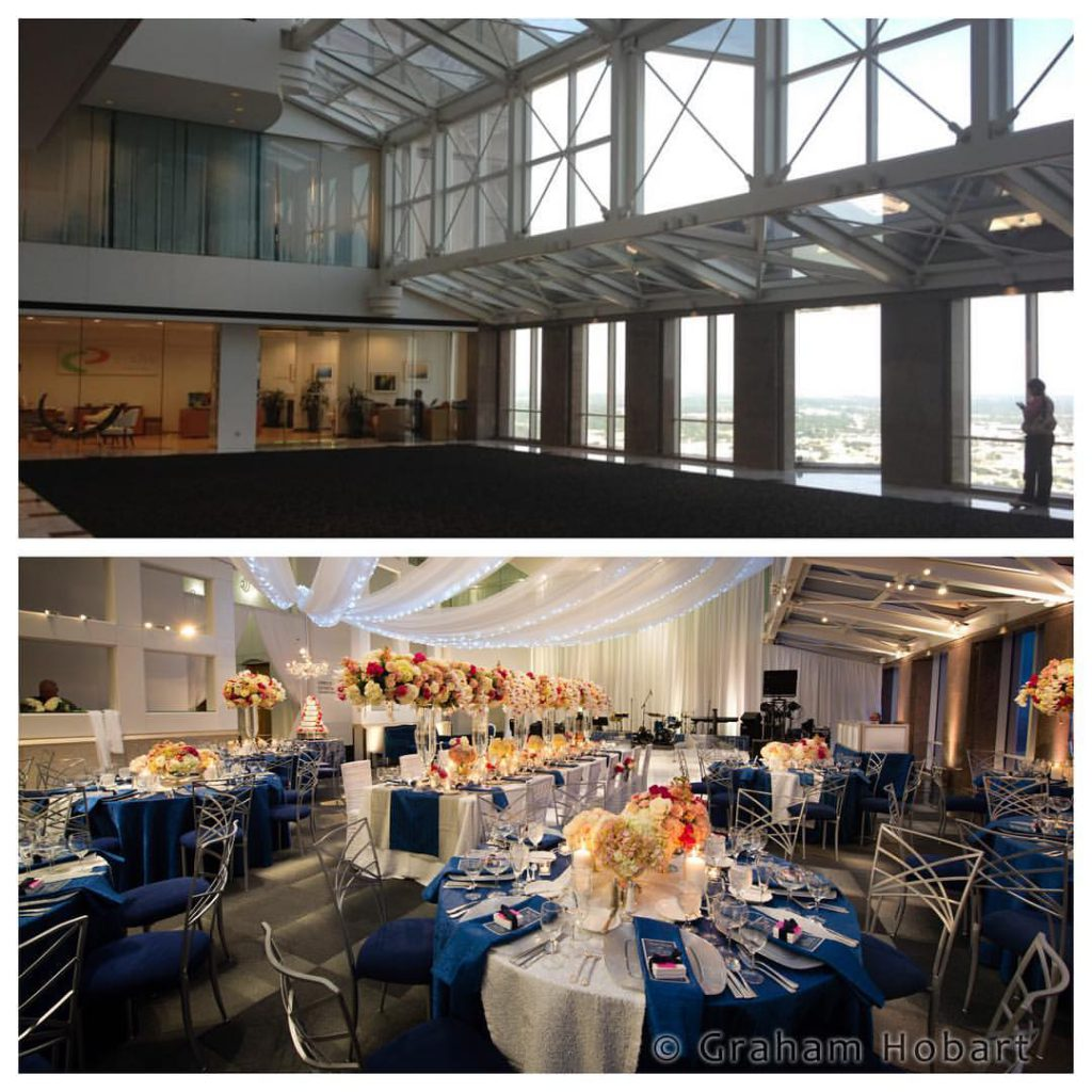 Back In February We Did A Wonderful Winter Wedding With Stardust Celebrations The Sky Lobby Of Dallas Petroleum Club